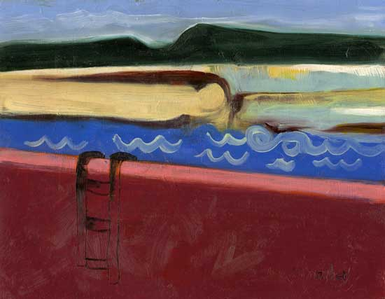 Coastal Dip - painting by Lois Donaghey