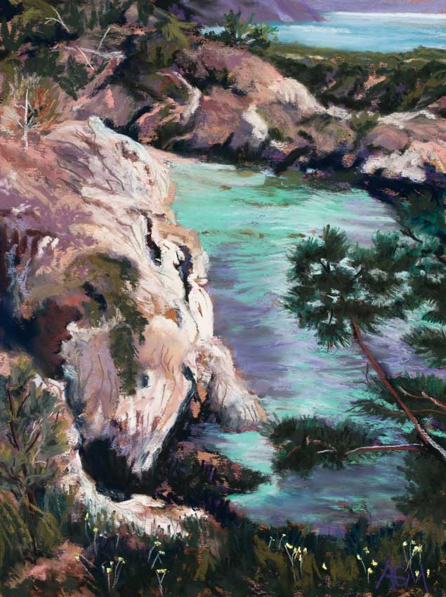 Jewel of Big Sur - Painting by Amy Glover Martin