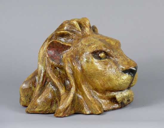 Lion Head - sculpture by Lance Glasser