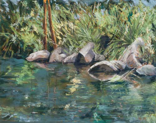 Stream Reflections - Painting by Amy Glover Martin