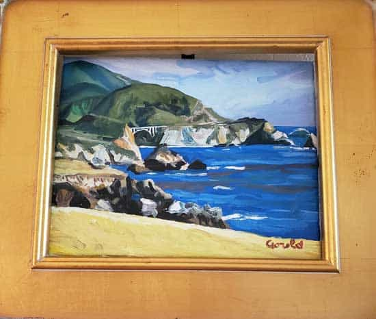 View of Bixby Bridge - painting by Noah Gould